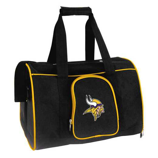 NFMVL901: NFL Minnesota Vikings Pet Carrier Premium 16in bag