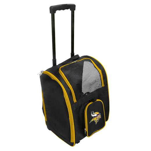 NFMVL902: NFL Minnesota Vikings Pet Carrier Premium bag W/ wheels