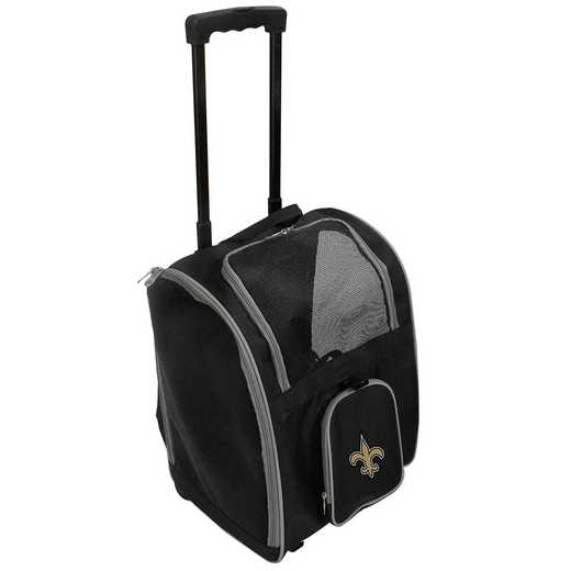 NFNSL902: NFL New Orleans Saints Pet Carrier Premium bag W/ wheels