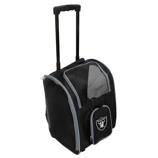 NFORL902: NFL Oakland Raiders Pet Carrier Premium bag W/ wheels