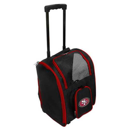 NFSFL902: NFL San Francisco 49ers Pet Carrier Premium bag W/ wheels