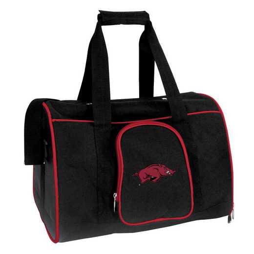 CLARL901: NCAA Arkansas Razorbacks Pet Carrier Premium 16in bag