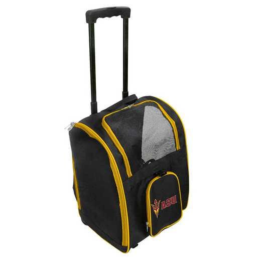 CLAZL902: NCAA Arizona ST Sun Devils Pet Carrier Premium bag W/wheels