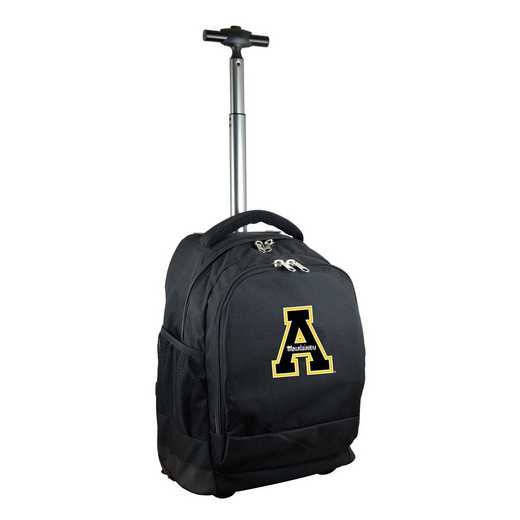 CLAPL780-BK: NCAA Appalachian State Mountaineers Wheeled Premium Backpack