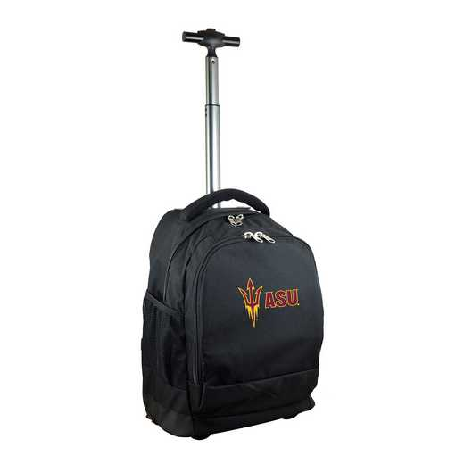 CLAZL780-BK: NCAA Arizona State Sun Devils Wheeled Premium Backpack