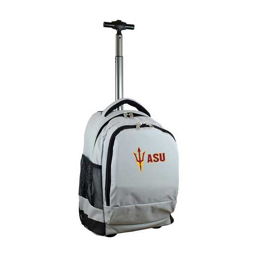 CLAZL780-GY: NCAA Arizona State Sun Devils Wheeled Premium Backpack