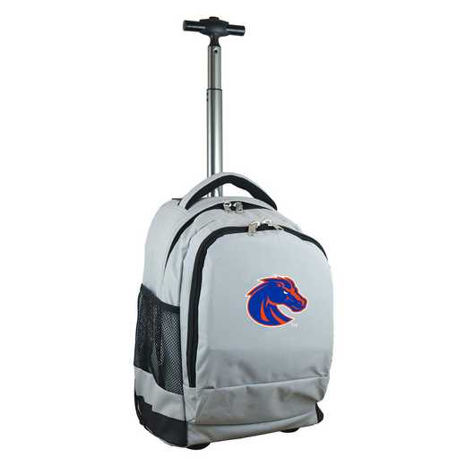 CLBSL780-GY: NCAA Boise State Broncos Wheeled Premium Backpack