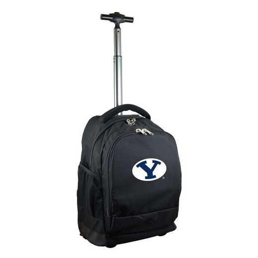 CLBYL780-BK: NCAA Brigham Young Cougars Wheeled Premium Backpack