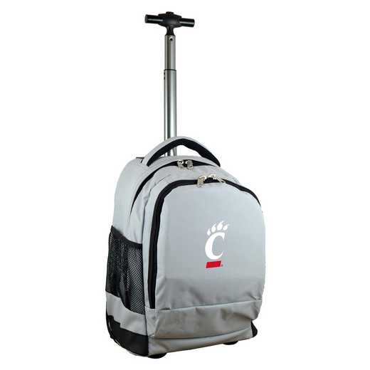 CLCIL780-GY: NCAA Cincinnati Bearcats Wheeled Premium Backpack