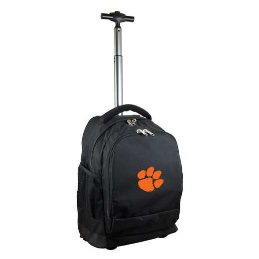 CLCLL780-BK: NCAA Clemson Tigers Wheeled Premium Backpack