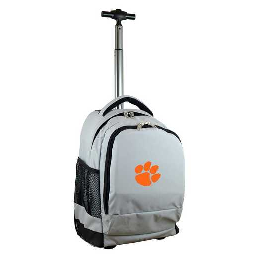 CLCLL780-GY: NCAA Clemson Tigers Wheeled Premium Backpack
