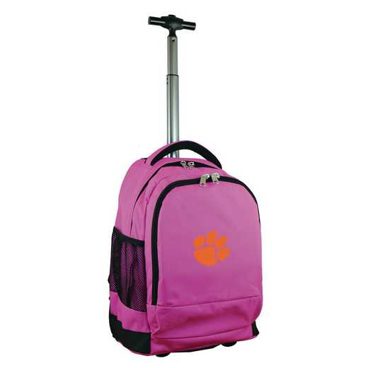CLCLL780-PK: NCAA Clemson Tigers Wheeled Premium Backpack