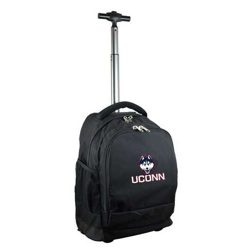 CLCNL780-BK: NCAA Connecticut Huskies Wheeled Premium Backpack