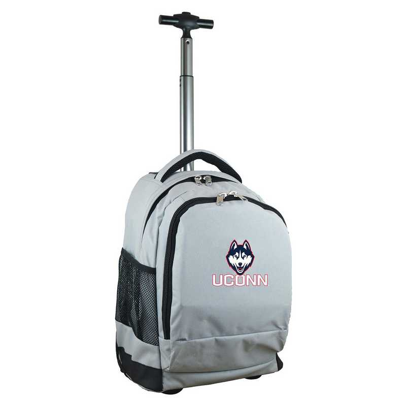 CLCNL780-GY: NCAA Connecticut Huskies Wheeled Premium Backpack