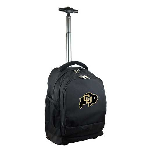 CLCOL780-BK: NCAA Colorado Buffaloes Wheeled Premium Backpack