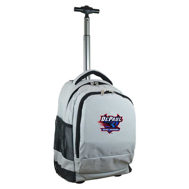 CLDPL780-GY: NCAA Depaul Wheeled Premium Backpack