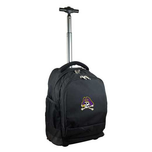 CLECL780-BK: NCAA East Carolina Pirates Wheeled Premium Backpack