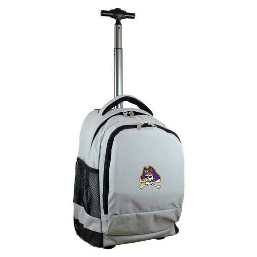 CLECL780-GY: NCAA East Carolina Pirates Wheeled Premium Backpack