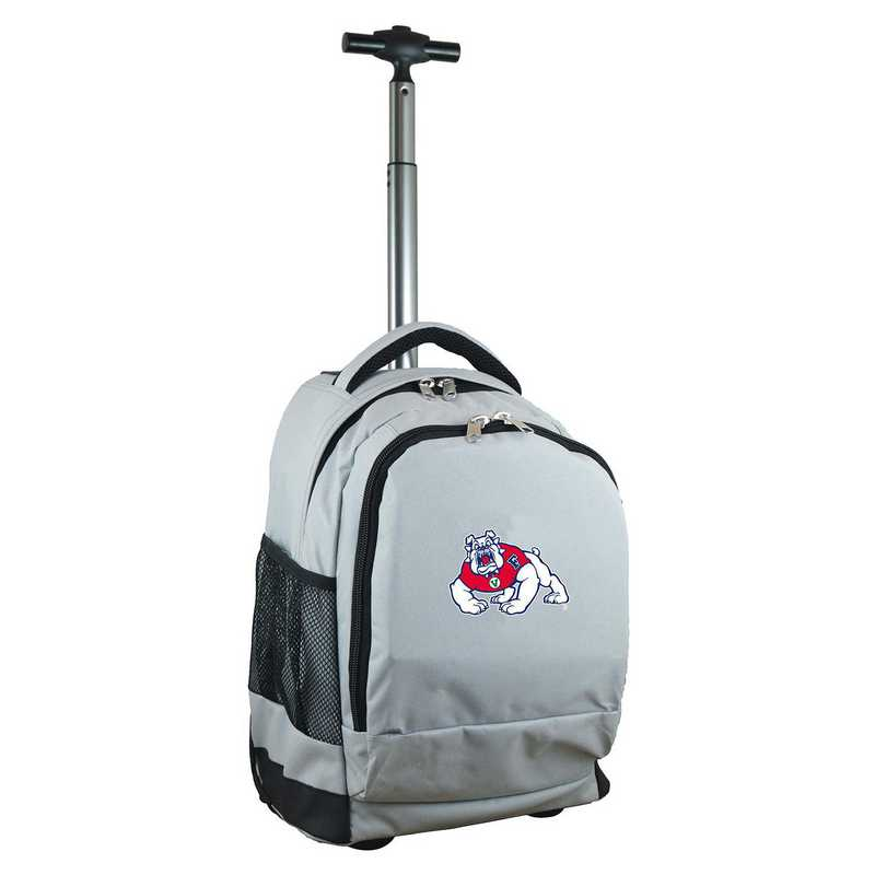 CLFRL780-GY: NCAA Fresno State Bulldogs Wheeled Premium Backpack