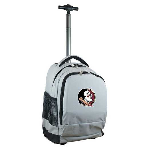 CLFSL780-GY: NCAA Florida State Seminoles Wheeled Premium Backpack