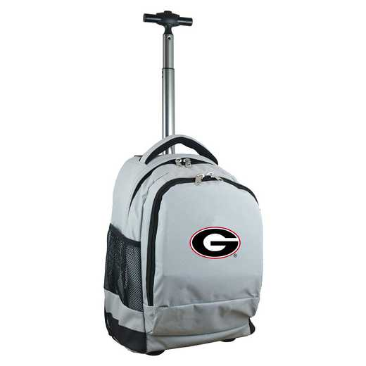 CLGAL780-GY: NCAA Georgia Bulldogs Wheeled Premium Backpack