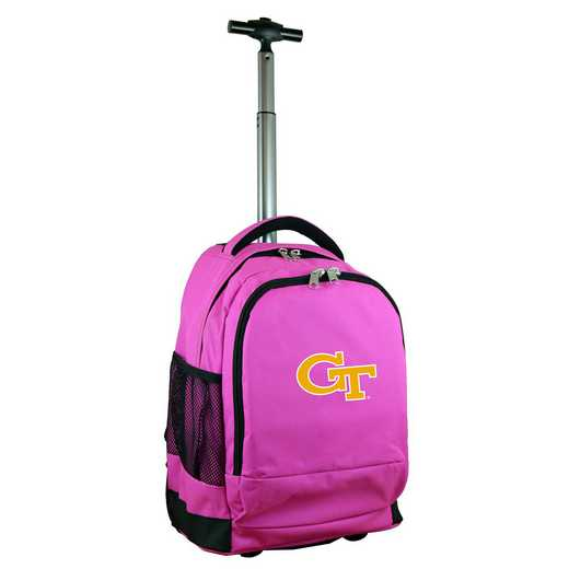 CLGTL780-PK: NCAA Georgia Tech Yellow Jackets Wheeled Premium Backpack
