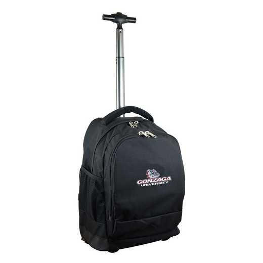 CLGZL780-BK: NCAA Gonzaga University Bulldogs Wheeled Premium Backpack