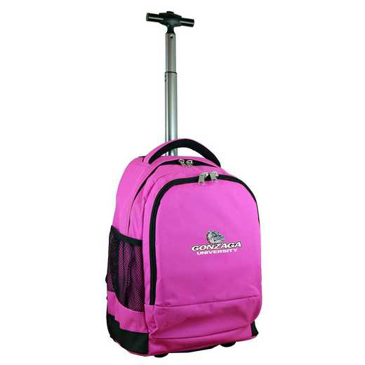 CLGZL780-PK: NCAA Gonzaga University Bulldogs Wheeled Premium Backpack