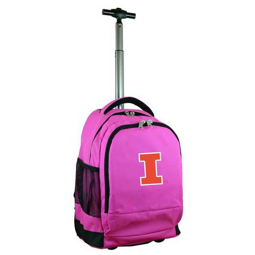 CLILL780-PK: NCAA Illinois Fighting Illini Wheeled Premium Backpack