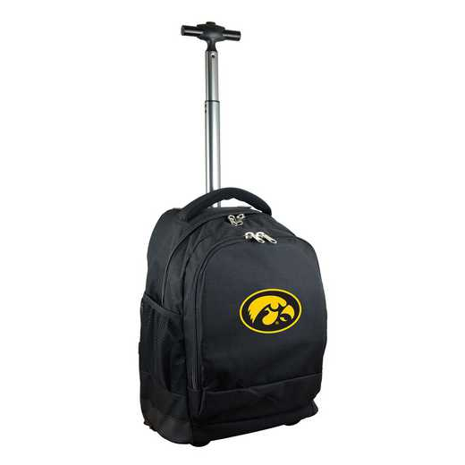 CLIWL780-BK: NCAA Iowa Hawkeyes Wheeled Premium Backpack