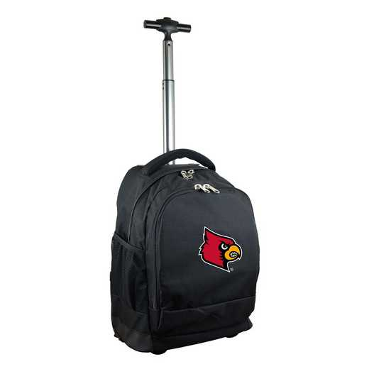 CLLOL780-BK: NCAA Louisville Cardinals Wheeled Premium Backpack