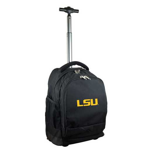 CLLSL780-BK: NCAA Louisiana Tigers Wheeled Premium Backpack