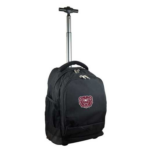 CLMBL780-BK: NCAA Missouri St University Bears Wheeled Premium Backpack