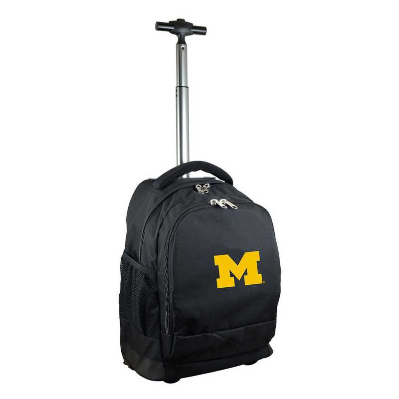 CLMCL780-BK: NCAA Michigan Wolverines Wheeled Premium Backpack