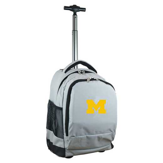 CLMCL780-GY: NCAA Michigan Wolverines Wheeled Premium Backpack