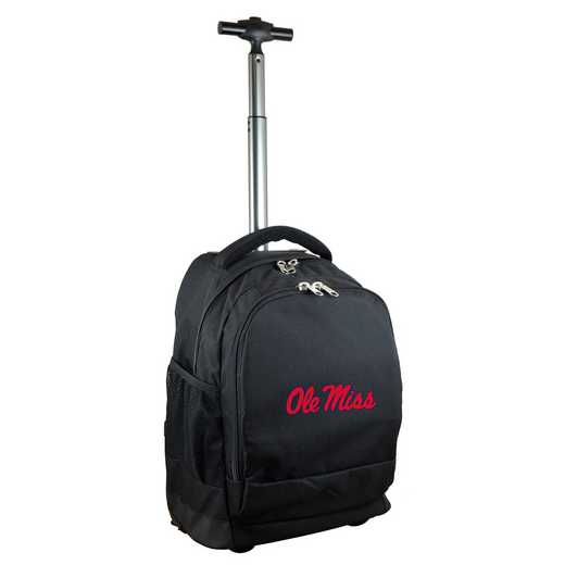 CLMIL780-BK: NCAA Mississippi Ole Miss Wheeled Premium Backpack