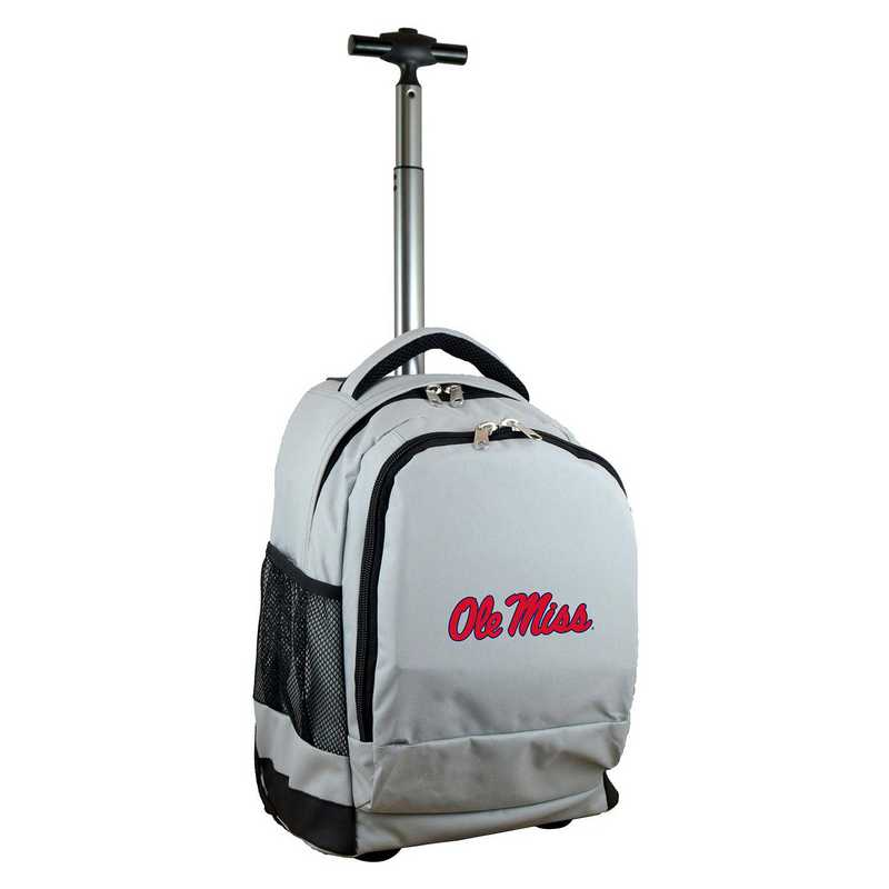 CLMIL780-GY: NCAA Mississippi Ole Miss Wheeled Premium Backpack
