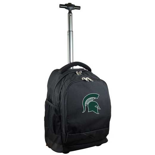CLMSL780-BK: NCAA Michigan State Spartans Wheeled Premium Backpack