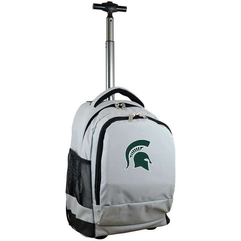 CLMSL780-GY: NCAA Michigan State Spartans Wheeled Premium Backpack