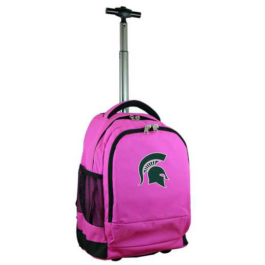 CLMSL780-PK: NCAA Michigan State Spartans Wheeled Premium Backpack