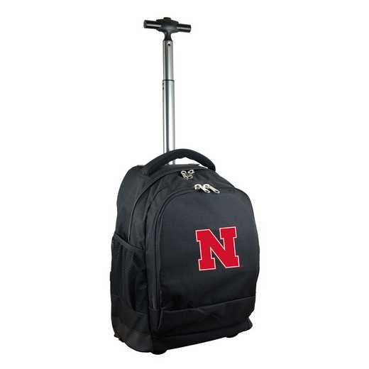 CLNBL780-BK: NCAA Nebraska Cornhuskers Wheeled Premium Backpack