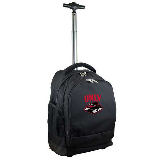 CLNLL780-BK: NCAA UNLV Rebels Wheeled Premium Backpack