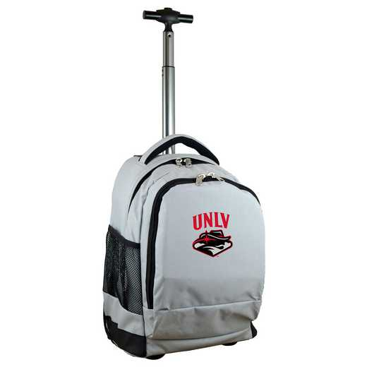 CLNLL780-GY: NCAA UNLV Rebels Wheeled Premium Backpack