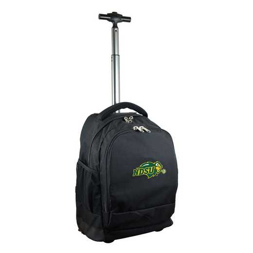 CLNUL780-BK: NCAA North Dakota State Bison Wheeled Premium Backpack