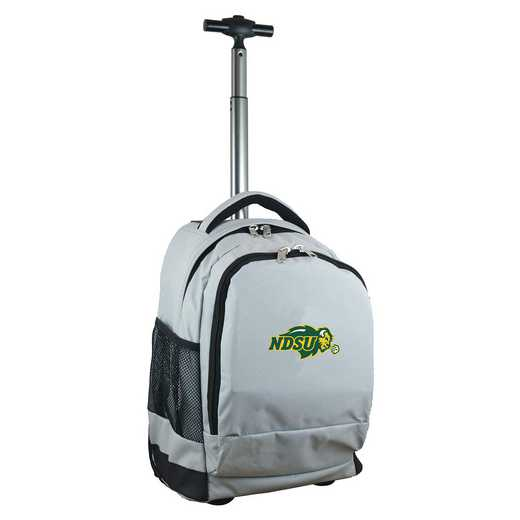 CLNUL780-GY: NCAA North Dakota State Bison Wheeled Premium Backpack