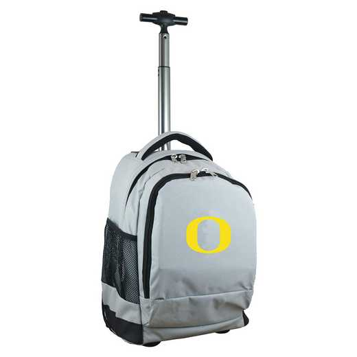 CLODL780-GY: NCAA Oregon Ducks Wheeled Premium Backpack