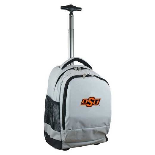 CLOKL780-GY: NCAA Oklahoma State Cowboys Wheeled Premium Backpack