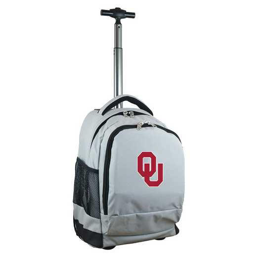 CLOUL780-GY: NCAA Oklahoma Sooners Wheeled Premium Backpack