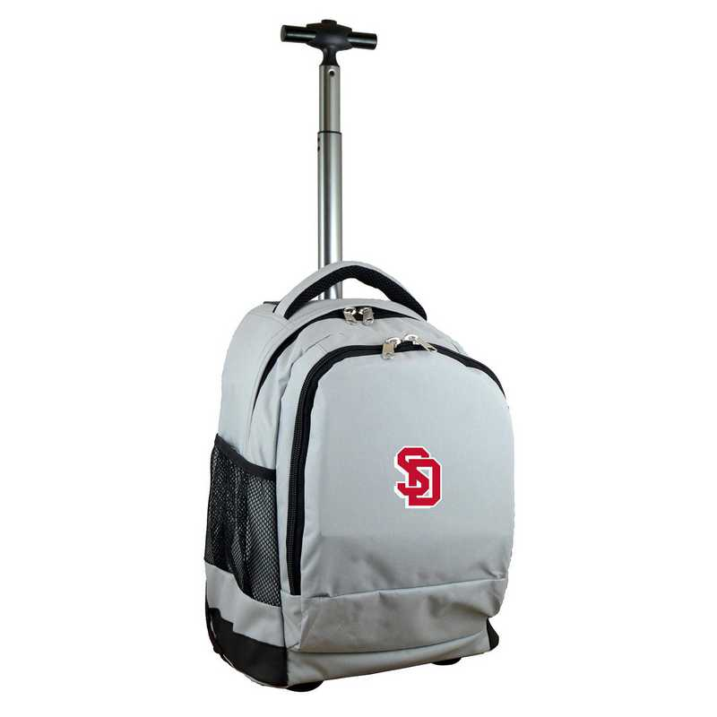 CLSDL780-GY: NCAA South Dakota Coyotes Wheeled Premium Backpack