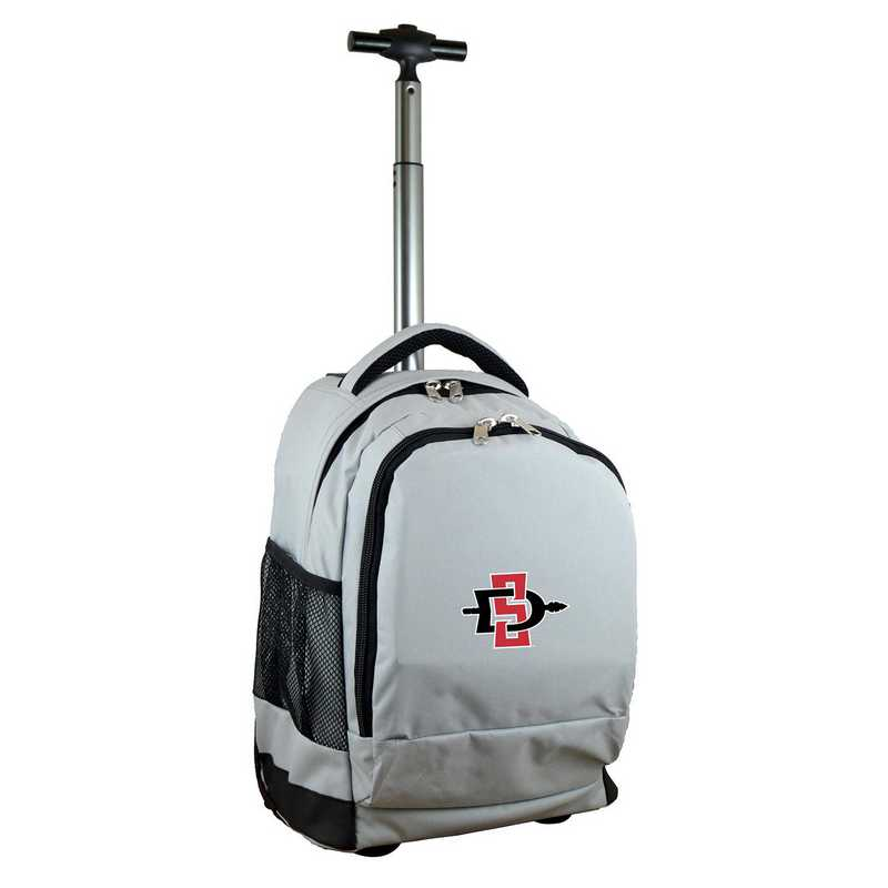 CLSGL780-GY: NCAA San Diego State Aztecs Wheeled Premium Backpack